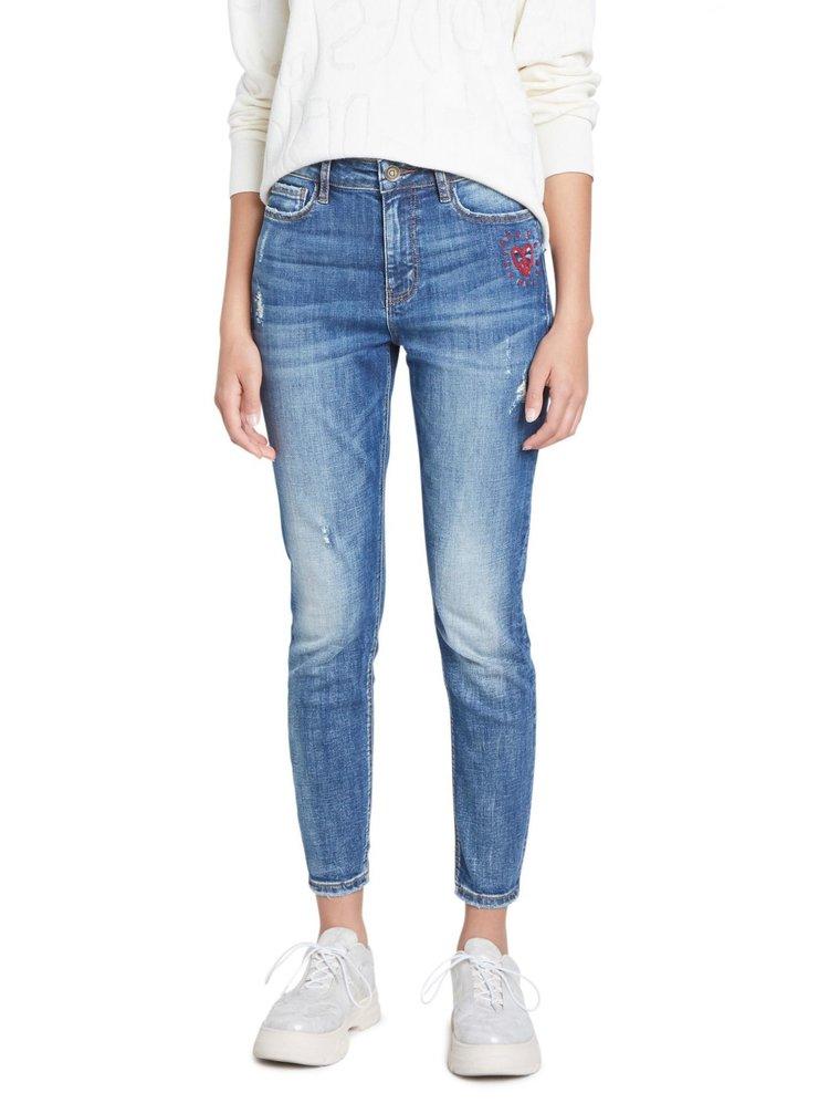 Desigual modré džíny Denim Alba Denim Medium Wash