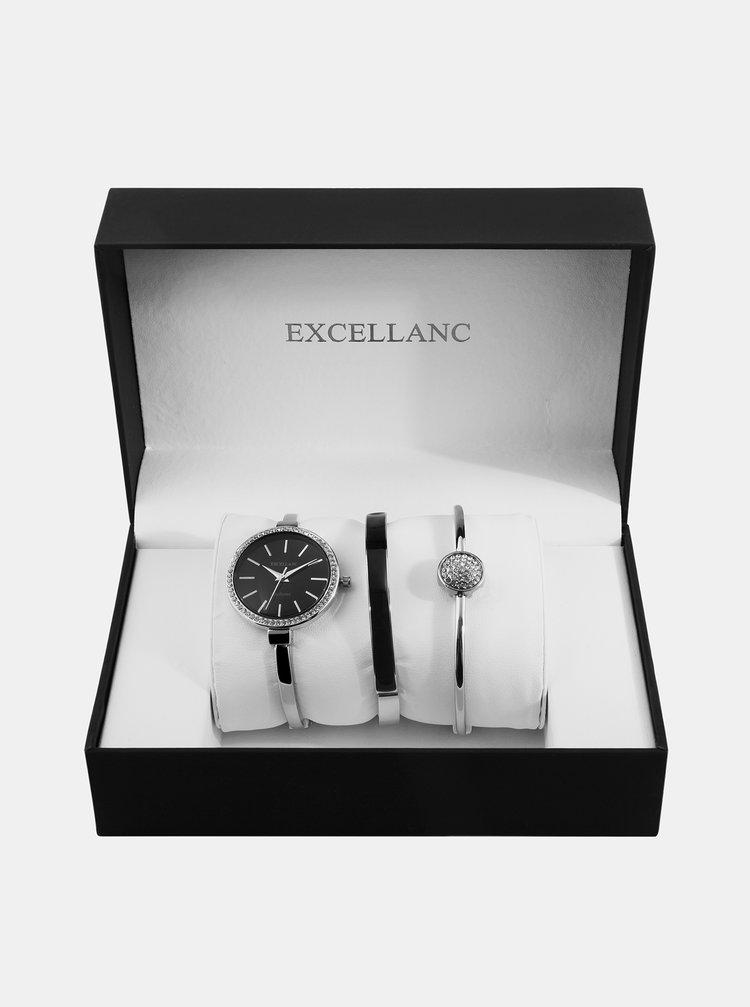 Sada dámských hodinek a dvou náramků Excellanc