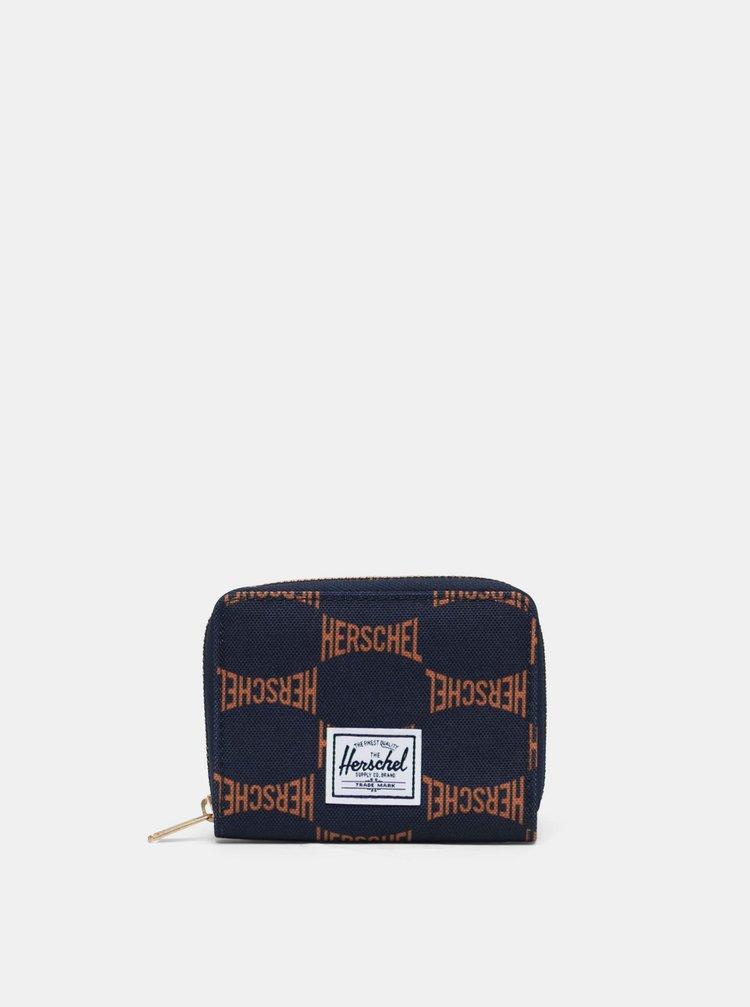 Tmavě modrá vzorovaná peněženka Herschel Supply