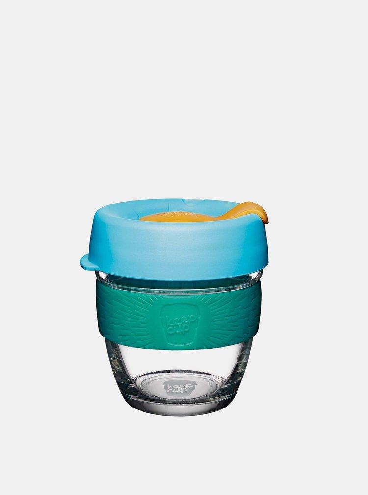 Modrý skleněný cestovní hrnek KeepCup Breeze Brew small 227 ml