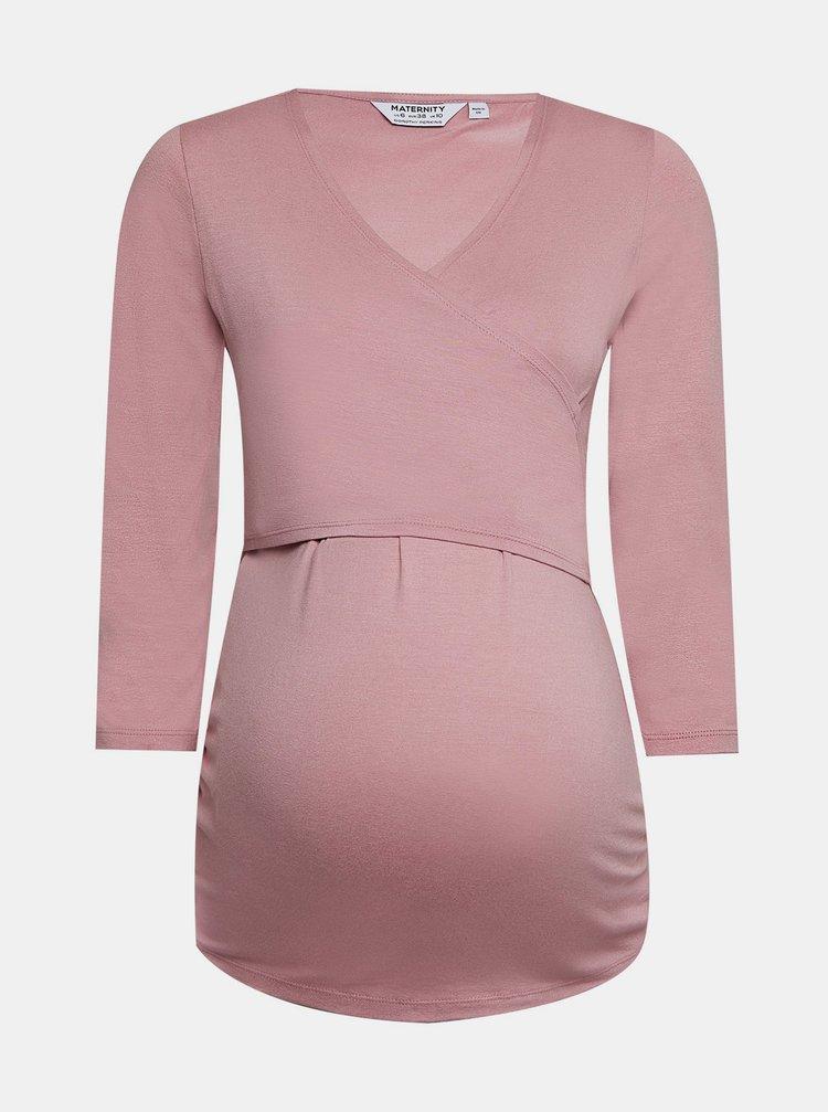 Růžové těhotenské tričko Dorothy Perkins Maternity