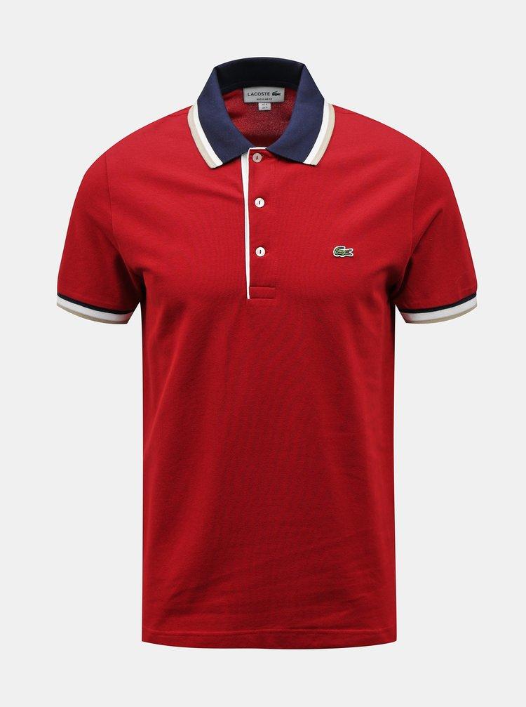 Červené pánské polo tričko Lacoste
