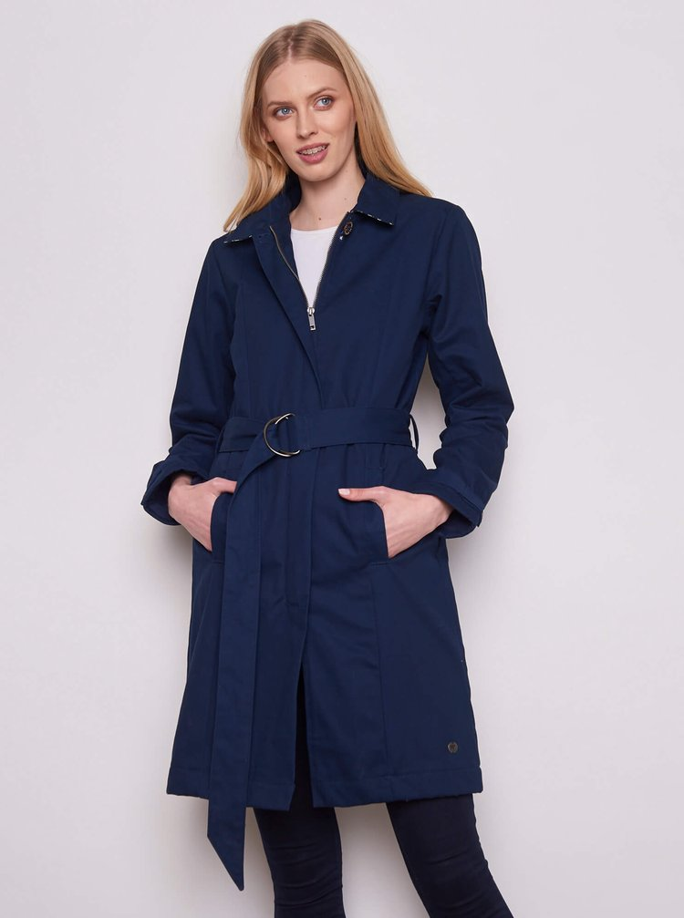 Trenciuri si paltoane subtiri pentru femei Tranquillo - albastru inchis
