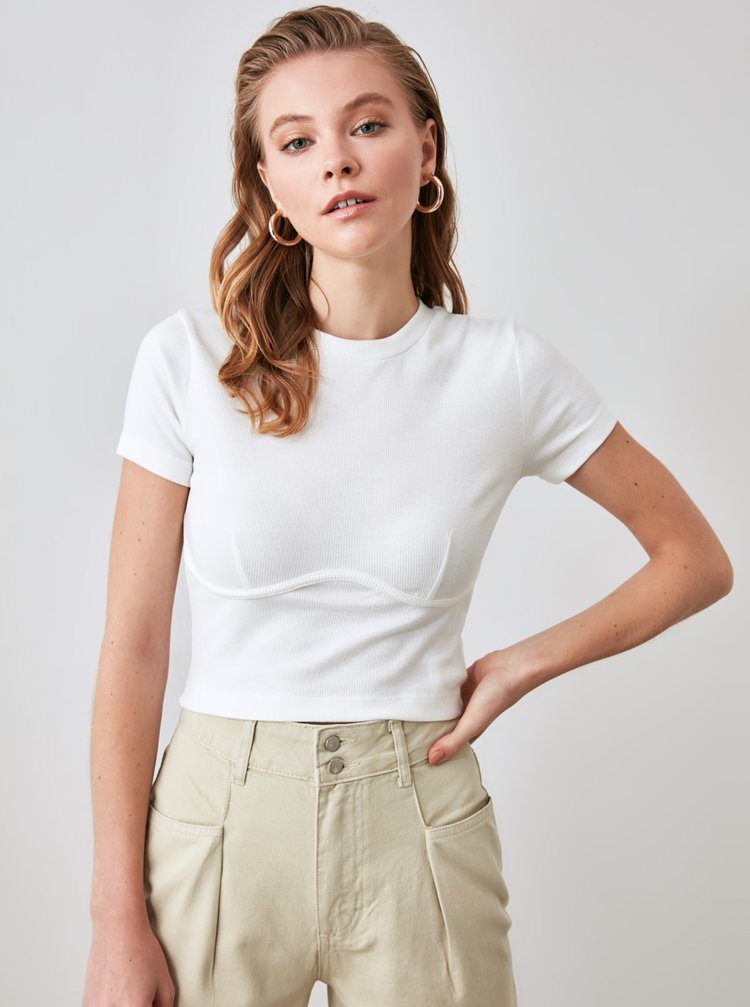 Tricouri pentru femei Trendyol - alb