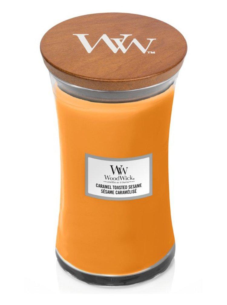WoodWick vonná svíčka Caramel Toasted Sesame velká váza