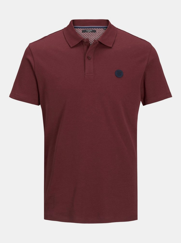 Tricouri polo pentru barbati Jack & Jones - bordo