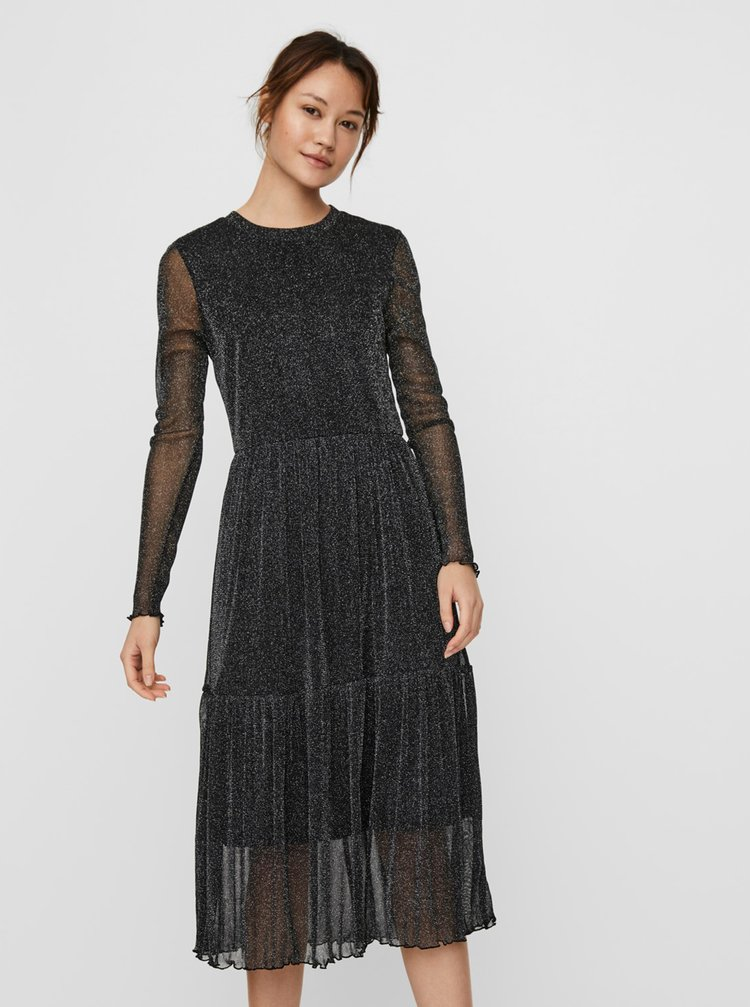 Černé šaty VERO MODA Aurora