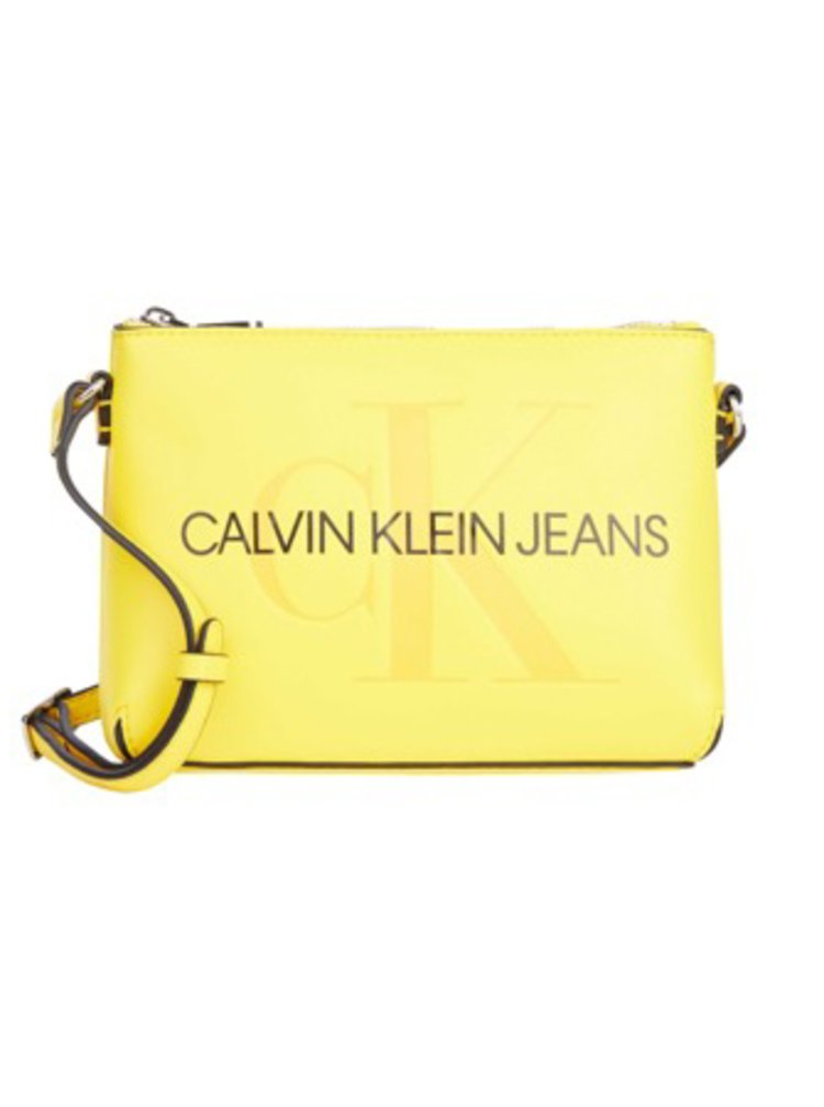Calvin Klein žlutá crossbody kabelka Camera Pouch