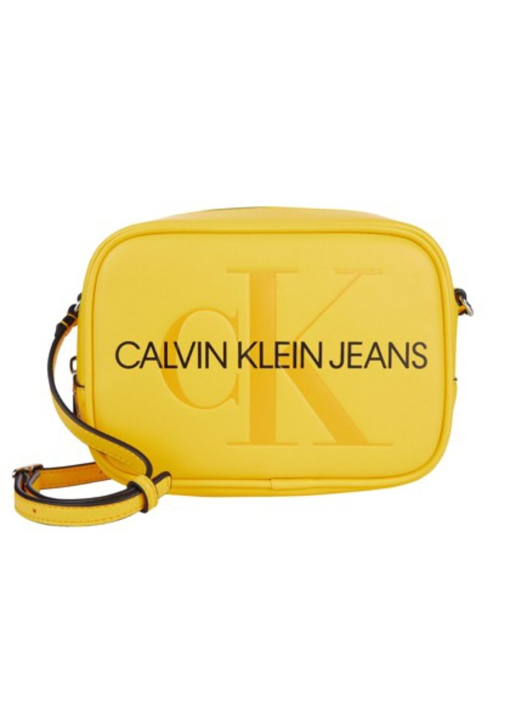 Calvin Klein žlutá crossbody kabelka Camera bag