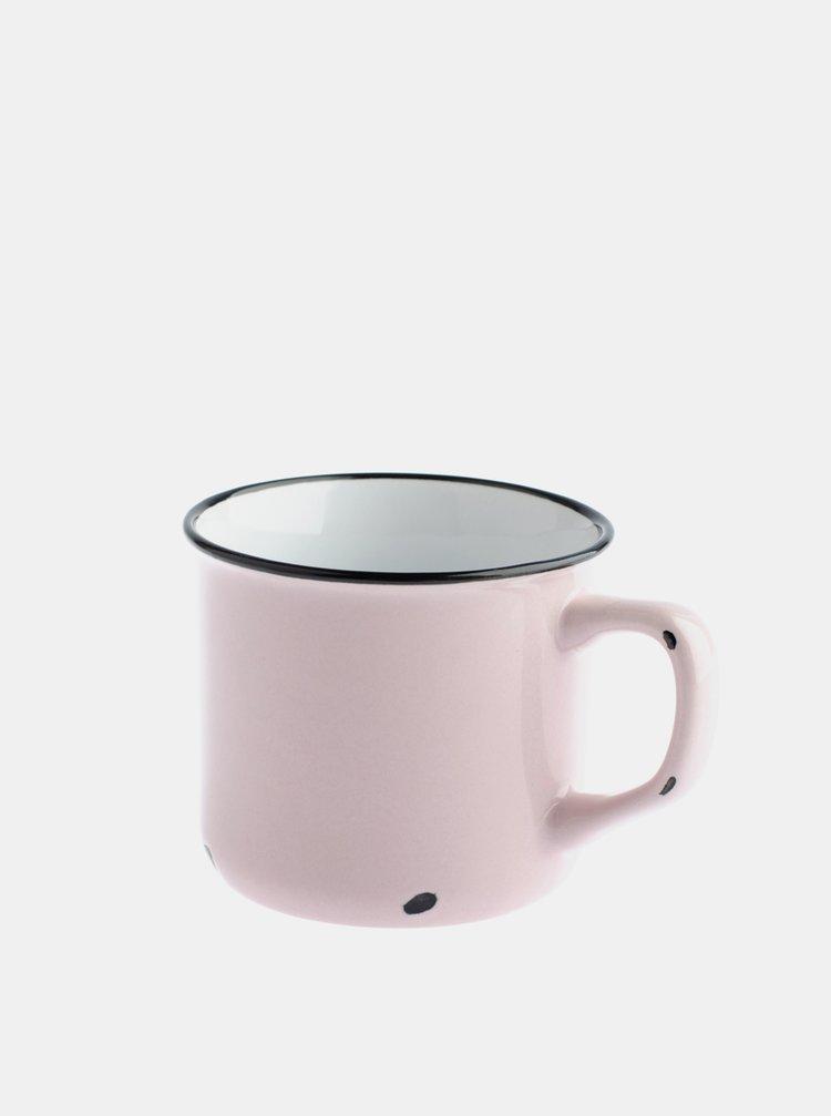 Růžový porcelánový hrnek Dakls 440 ml