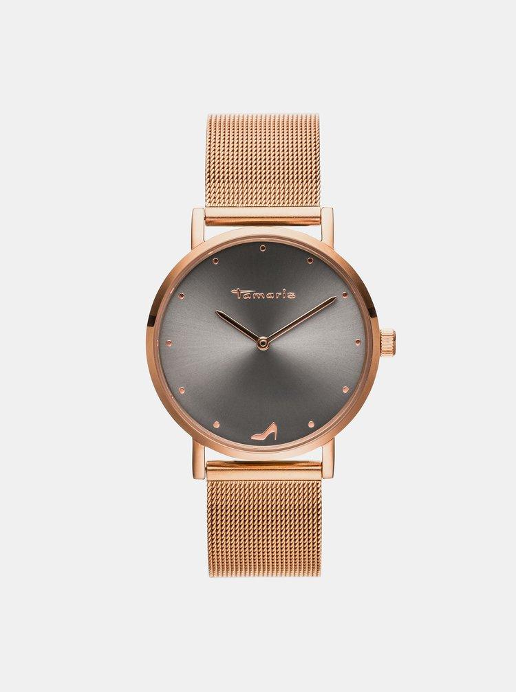 Dámské hodinky s kovovým páskem ve zlaté barvě Tamaris