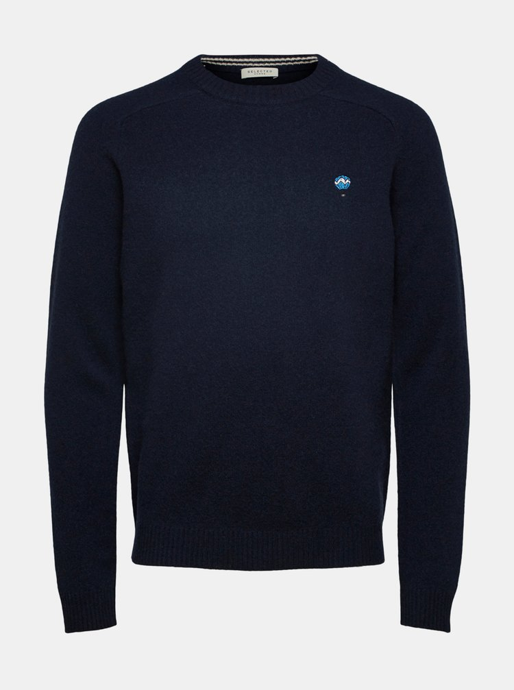 Pulovere pentru barbati Selected Homme - albastru inchis