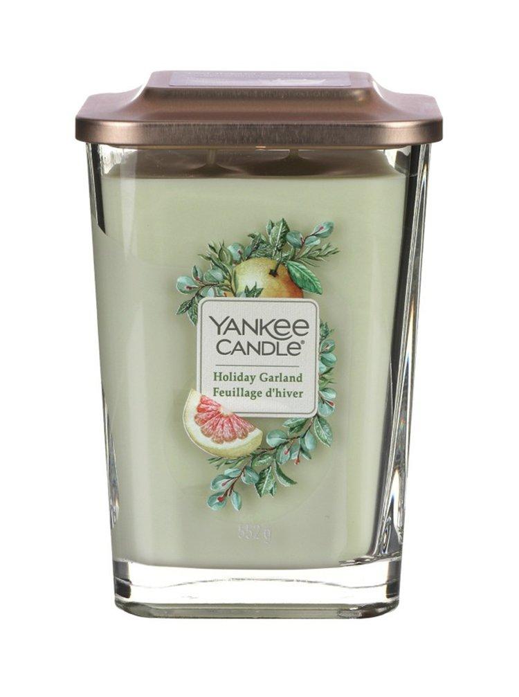 Yankee Candle vonná svíčka Elevation Holiday Garland hranatá velká 2 knoty