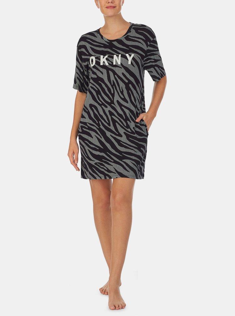 Camasi de noapte pentru femei DKNY - gri, negru