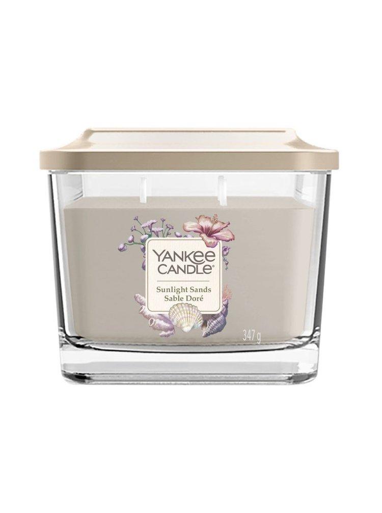 Yankee Candle vonná svíčka Sunlight Sands hranatá střední 3 knoty