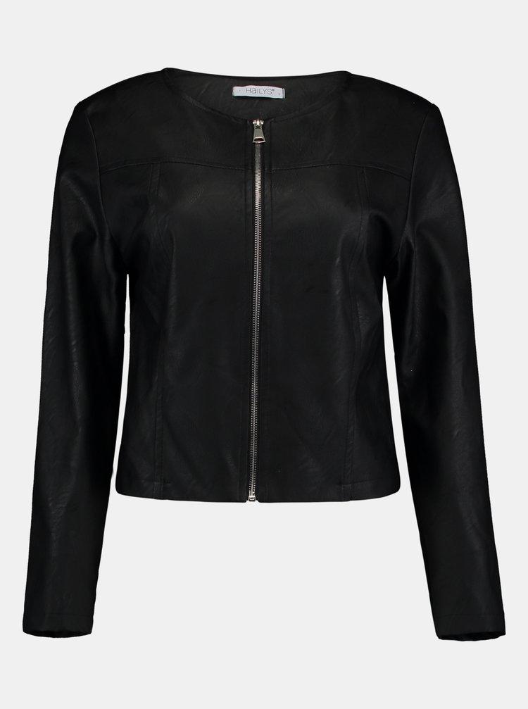 Jachete din piele naturala si sintetica pentru femei Hailys - negru