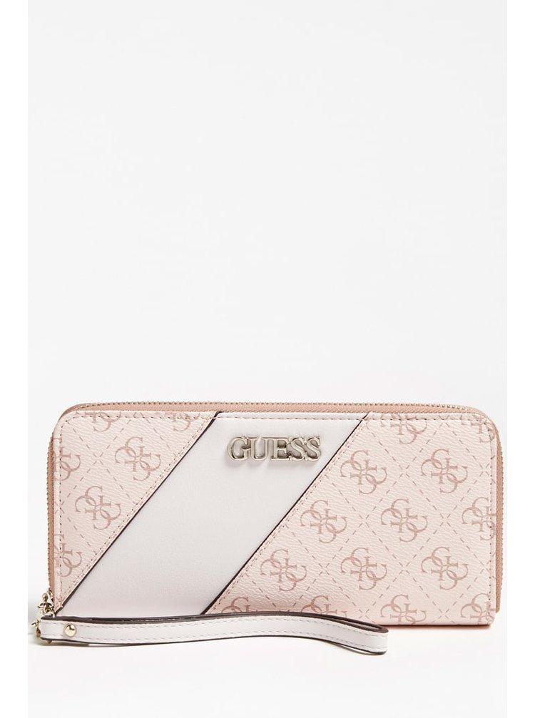 Guess pudrová peněženka Camy 4G Logo Colour-Block Wallet