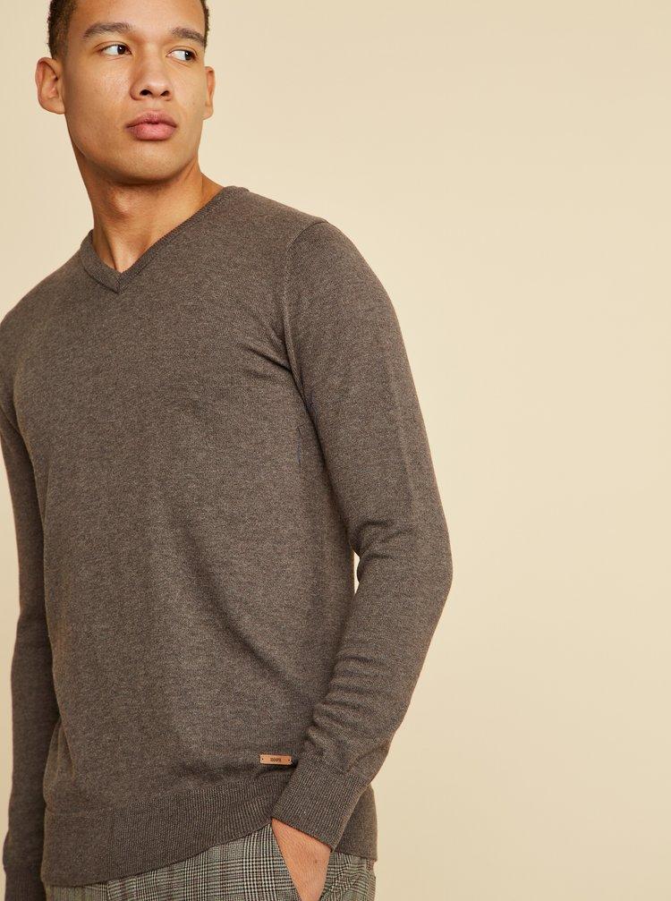 Hnědý pánský basic svetr ZOOT Baseline Leo