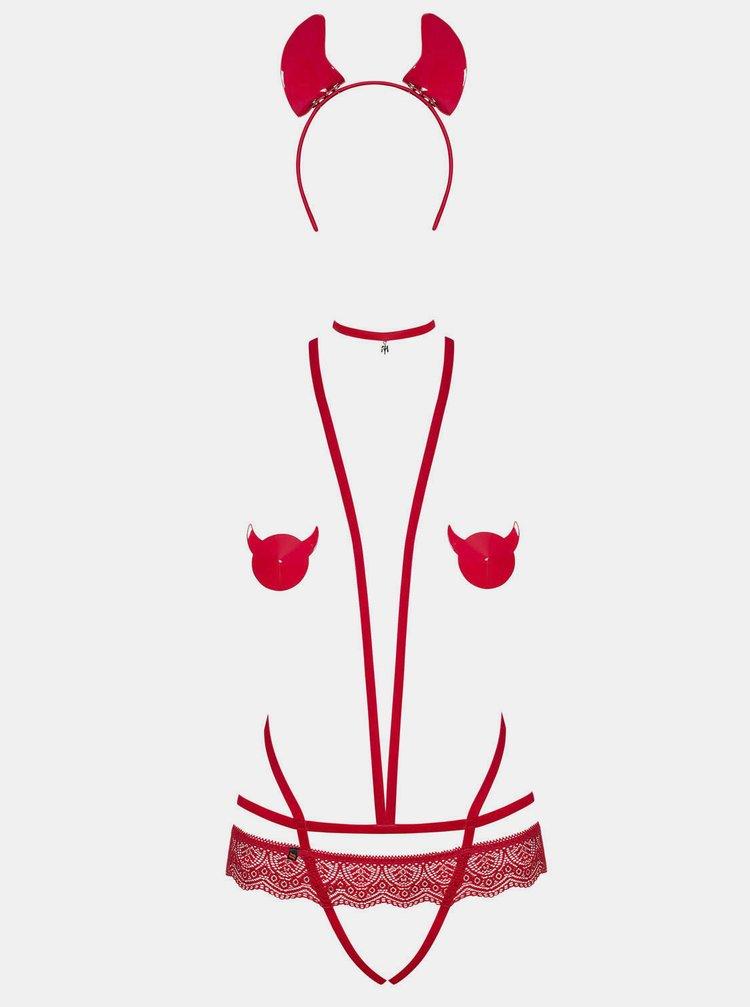 Červený kostým Obsessive