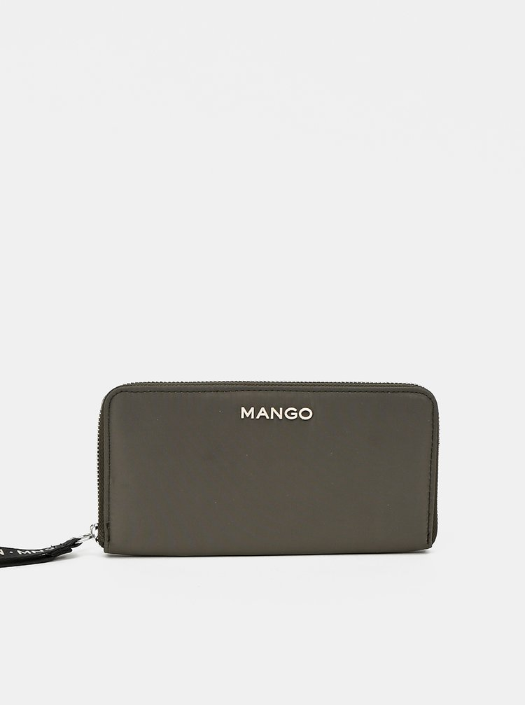 Khaki peněženka Mango