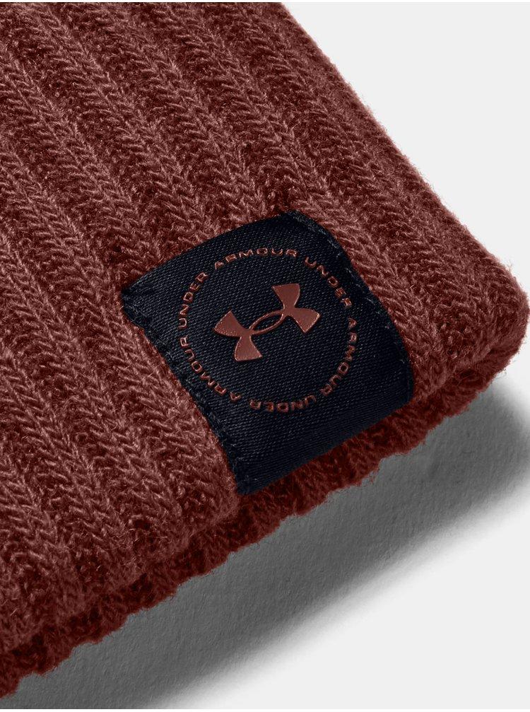 Červená Čepice Under Armour UA Big Logo Pom Beanie
