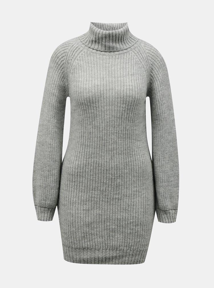 Šedé svetrové šaty Miss Selfridge Petites