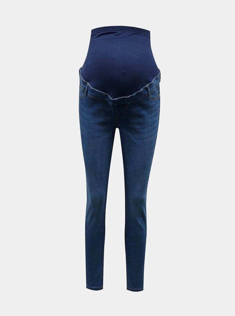 Modré těhotenské skinny fit džíny Dorothy Perkins Maternity