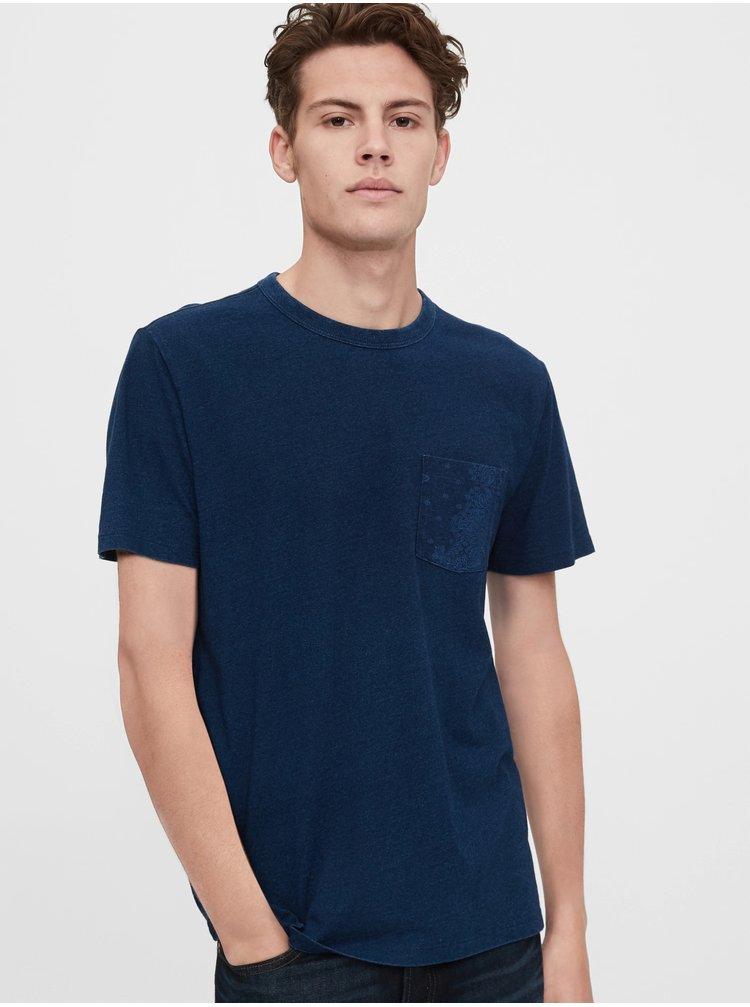 Modré pánské tričko GAP