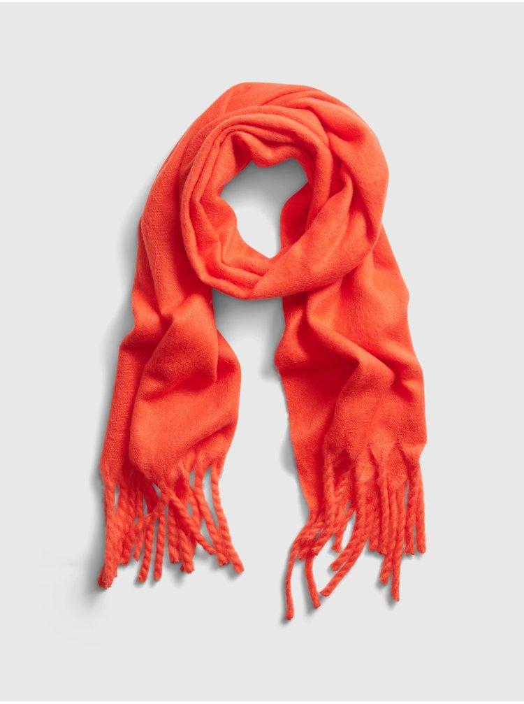 Oranžová dámská šála GAP