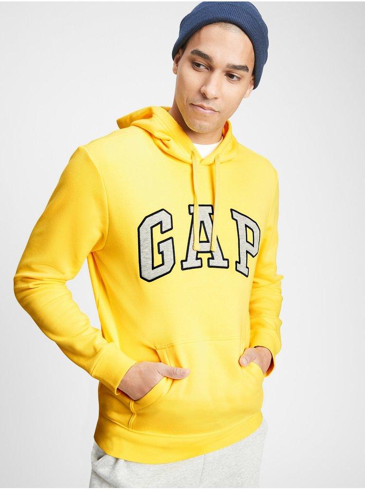 Žlutá pánská mikina GAP Logo