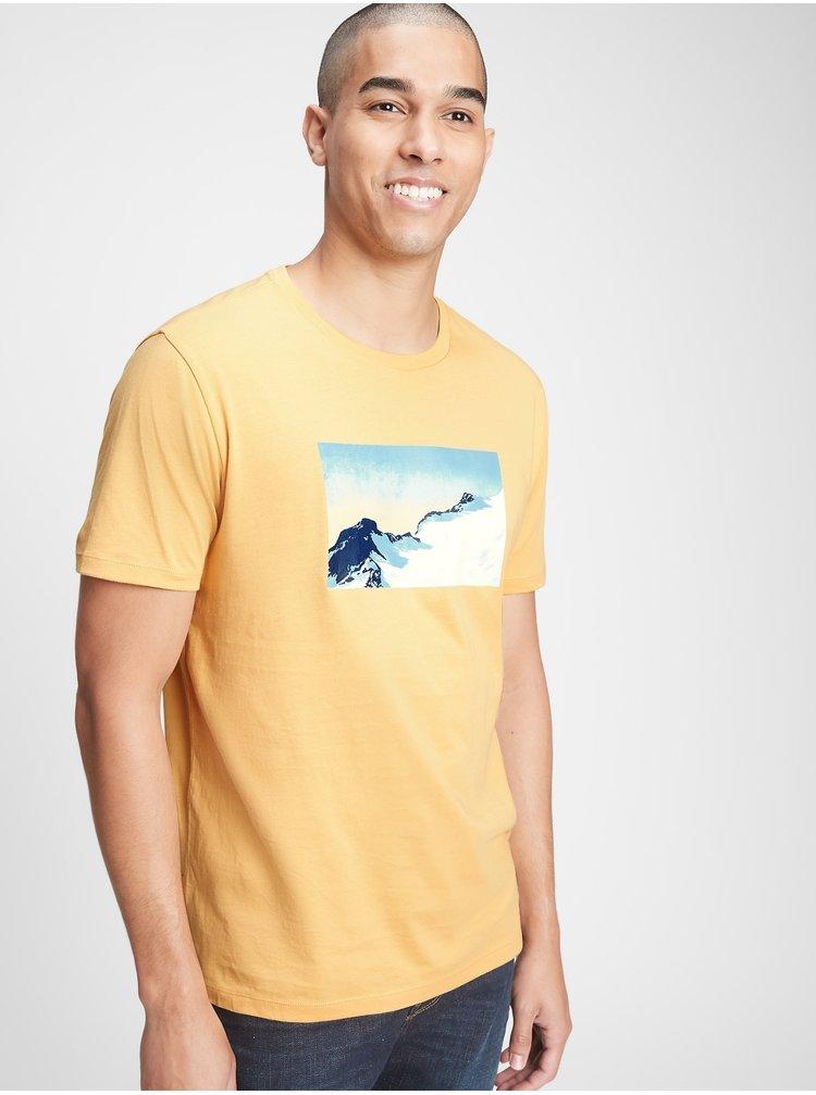 Žluté pánské tričko GAP