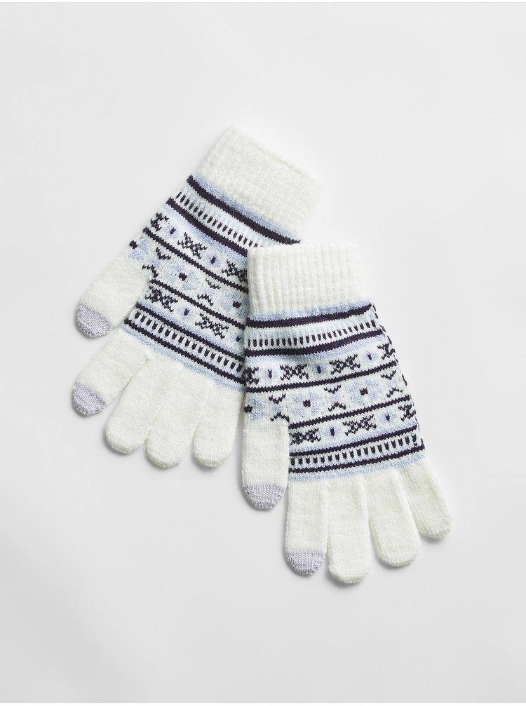 Bílé dámské rukavice GAP