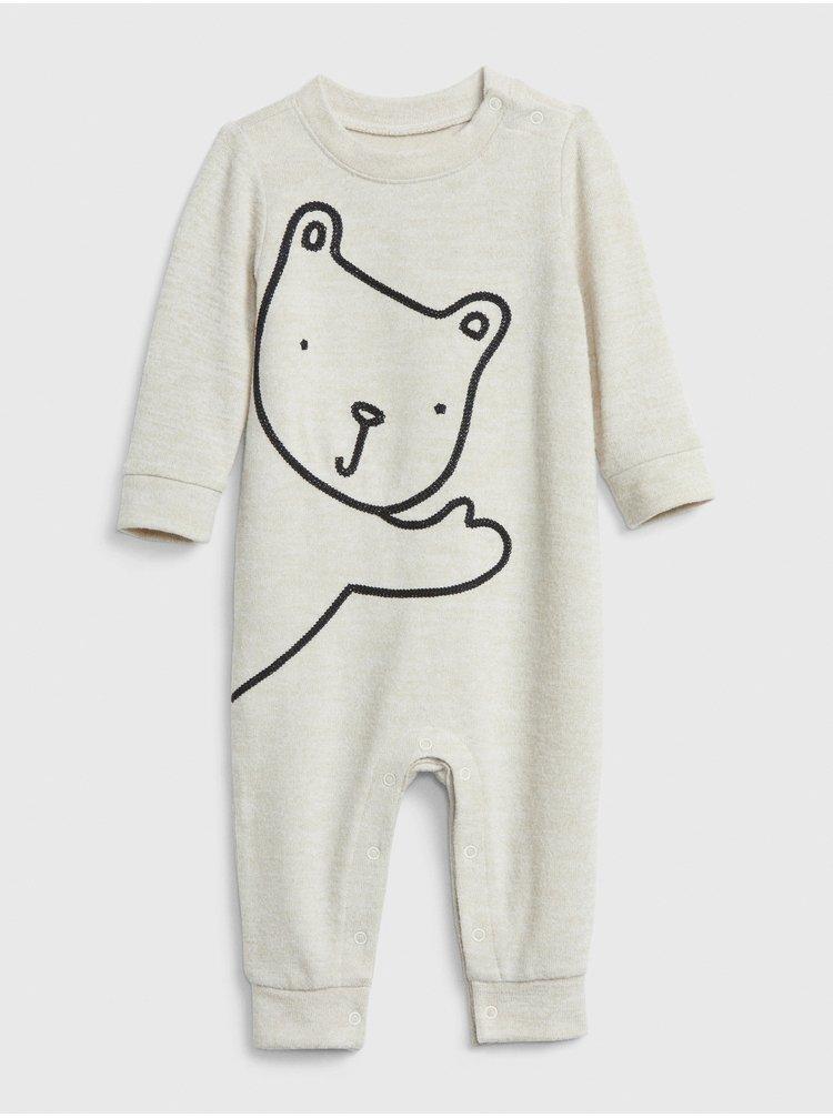 Bílý klučičí overal GAP Baby Bear
