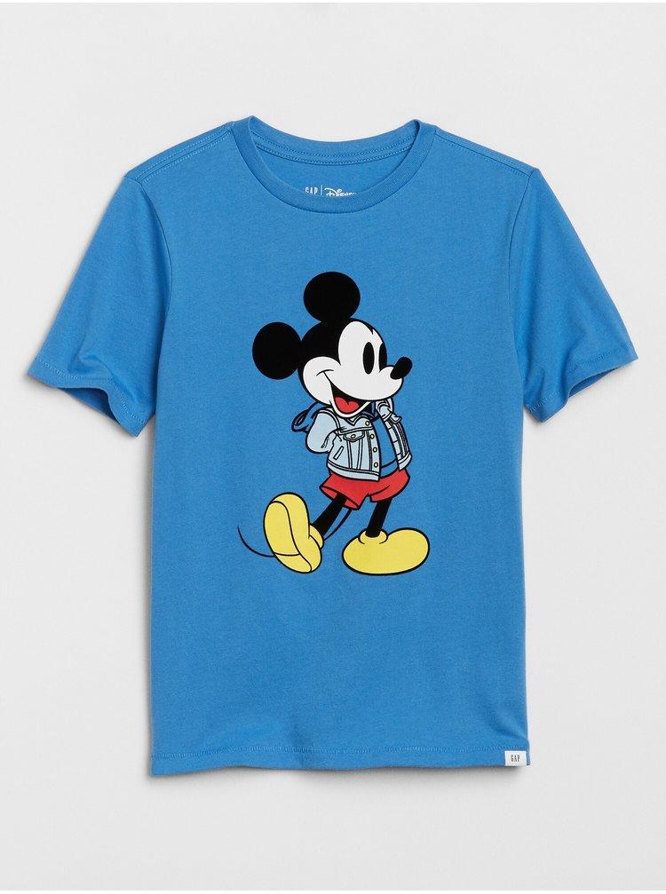 Modré klučičí tričko GAP Disney Mickey Mouse