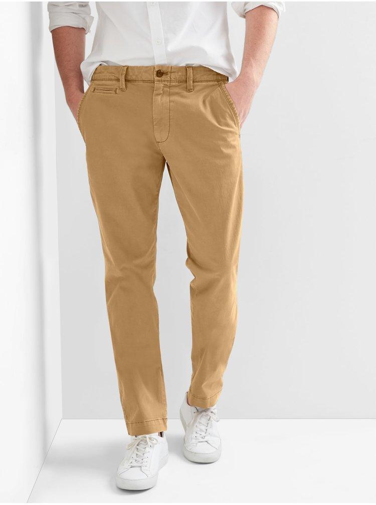 Hnědé pánské kalhoty GAP SLIM