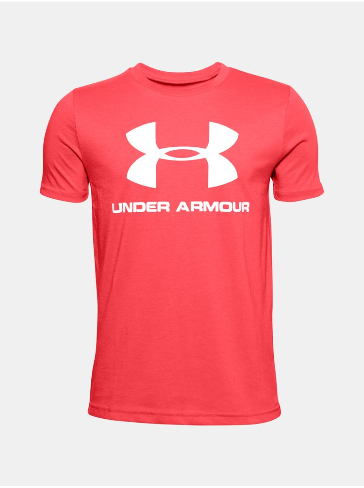 Červené tričko Under Armour Sportstyle Logo SS