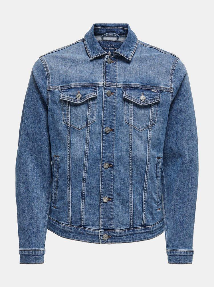 Jachete subtire pentru barbati ONLY & SONS - albastru