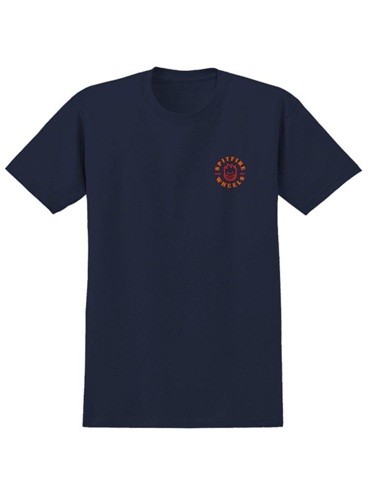 Spitfire BIGHEAD CLASSIC NAVY/RED pánské triko s krátkým rukávem - modrá