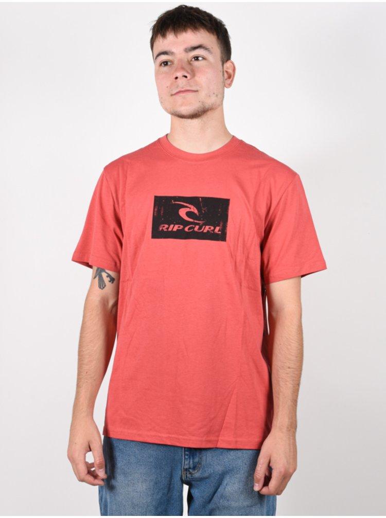 Rip Curl HALLMARK washed red pánské triko s krátkým rukávem - červená
