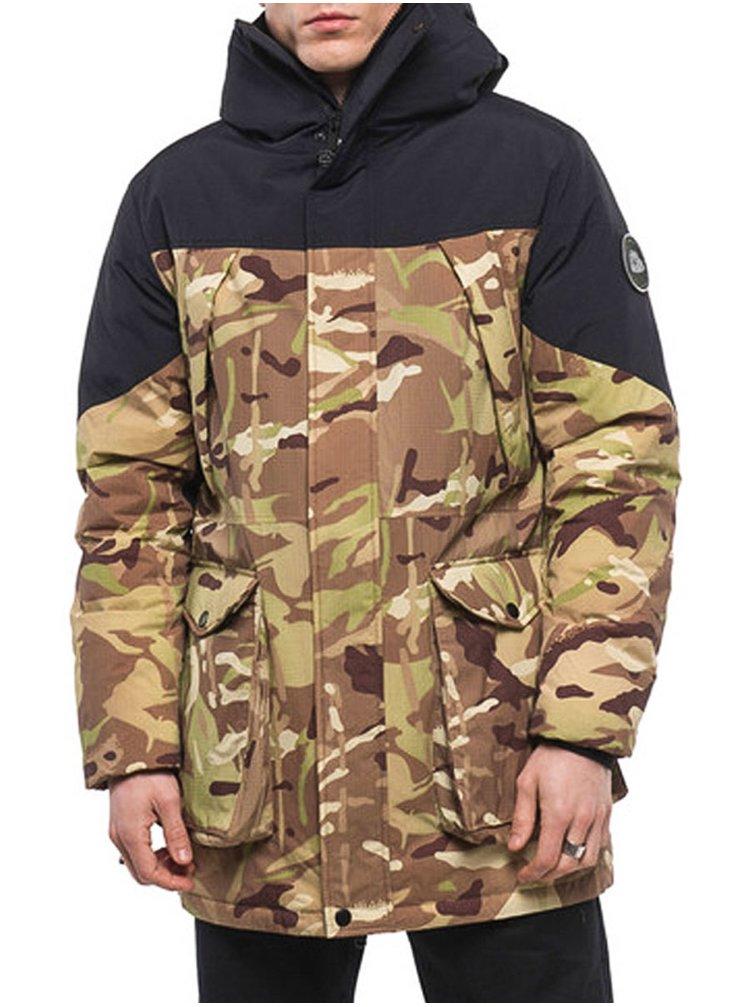 Element BLACK SKY SLEEPING CAMO zimní pánská bunda - hnědá