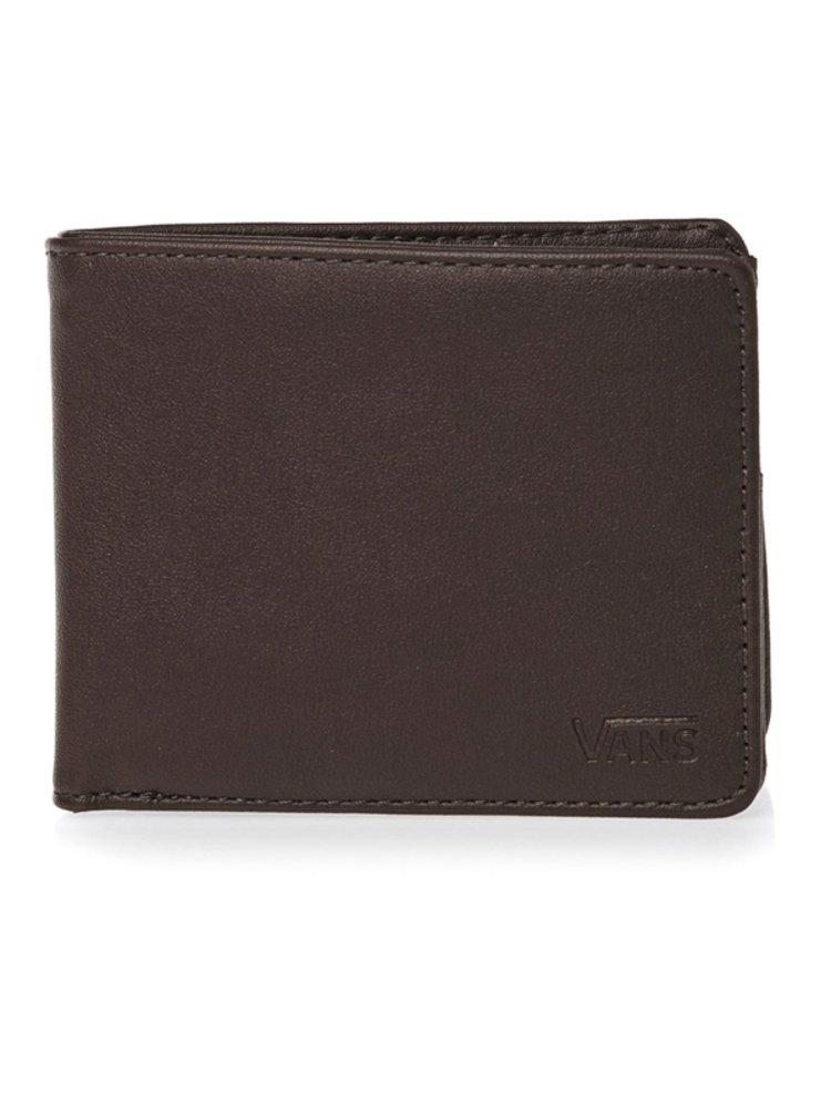 Vans DROP V BIFOLD dark brown pánská značková peněženka - hnědá