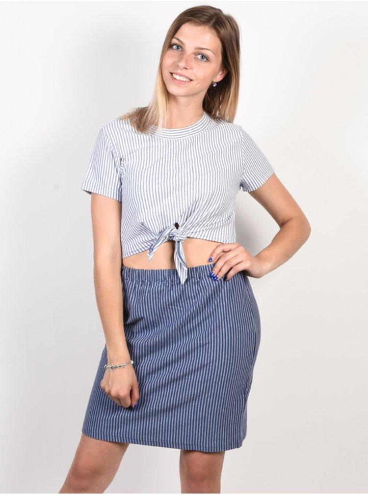 RVCA FADE OUT indigo dámské triko s krátkým rukávem - modrá