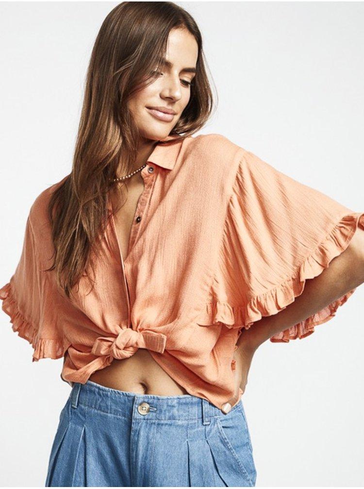 Billabong FIND ME CORAL KISS dámské triko s krátkým rukávem - oranžová
