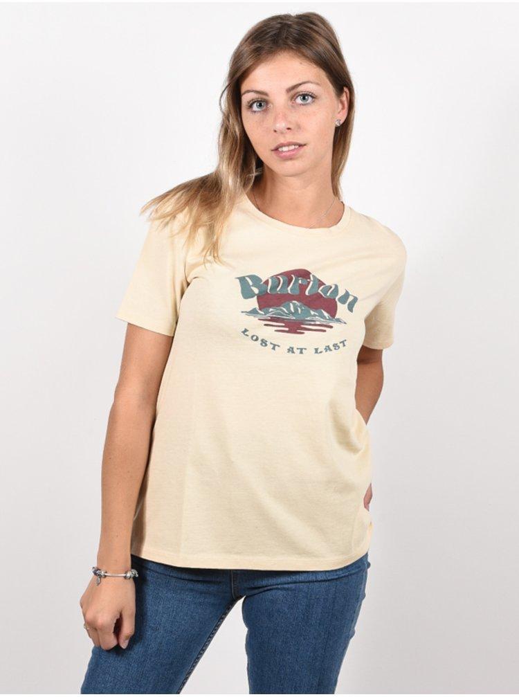 Burton ASHMORE CREME BRULEE dámské triko s krátkým rukávem - béžová