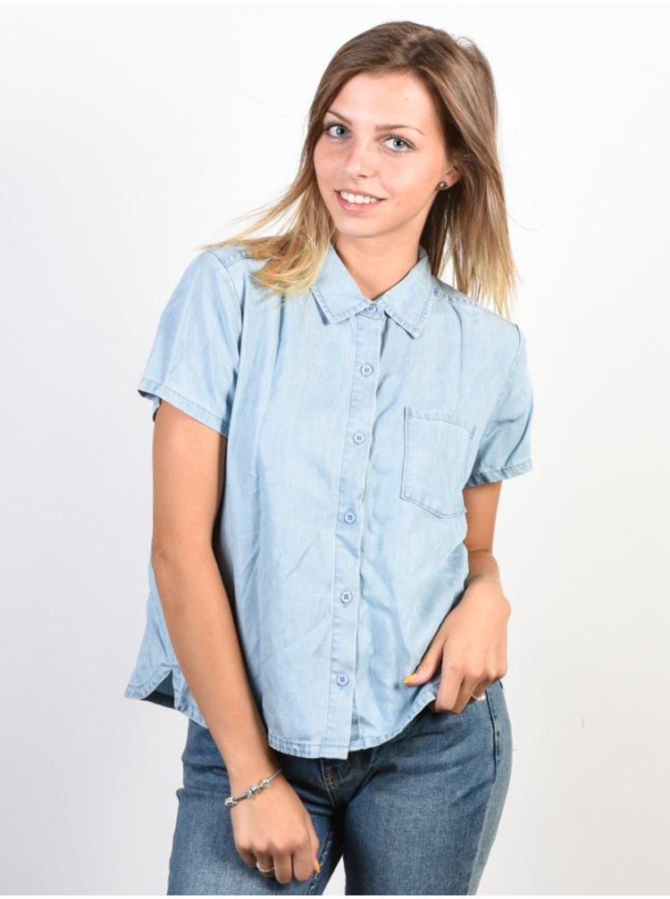 RVCA LETS GO CHAMBRAY košile pro ženy - modrá