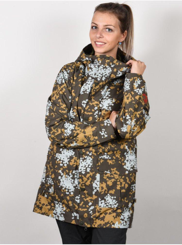 Burton RUNESTONE WHEELER CAMO zimní dámská bunda - zelená