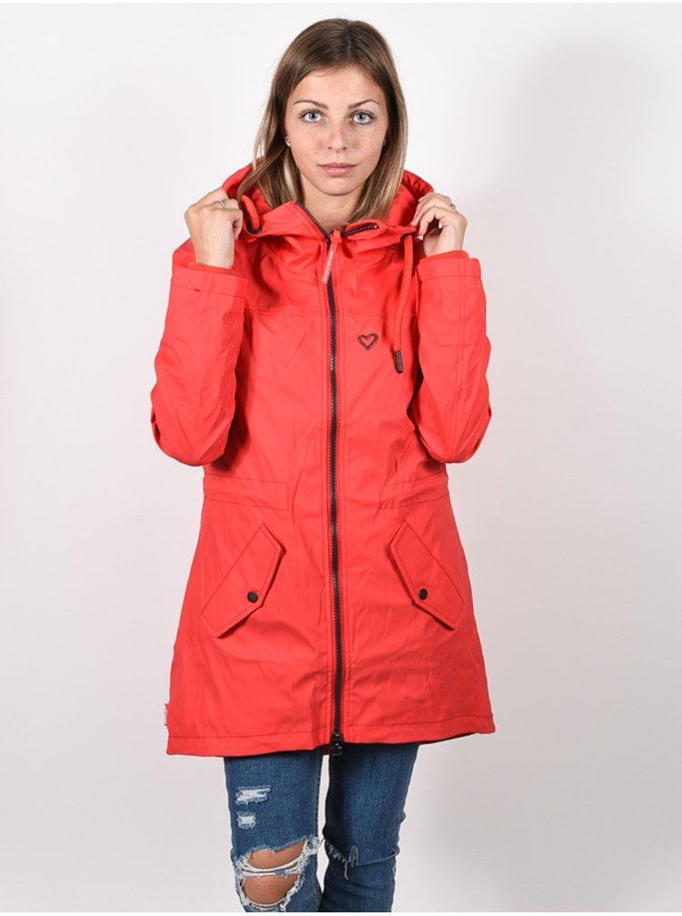 Alife and Kickin AudreyAK FIESTA podzimní bunda pro ženy - červená