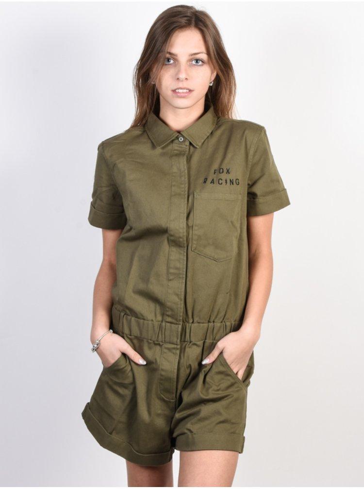 Fox Wrenching Romper FATIGUE GREEN krátké letní šaty - zelená