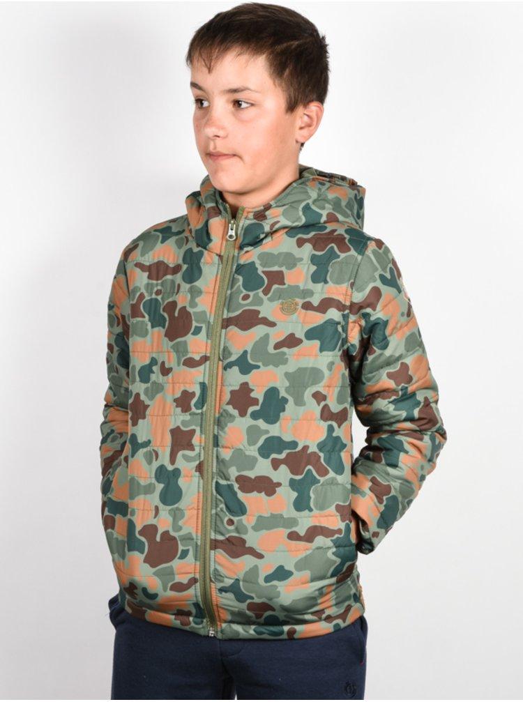 Element ALDER PUFF JUNGLE CAMO podzimní bunda pro děti - zelená