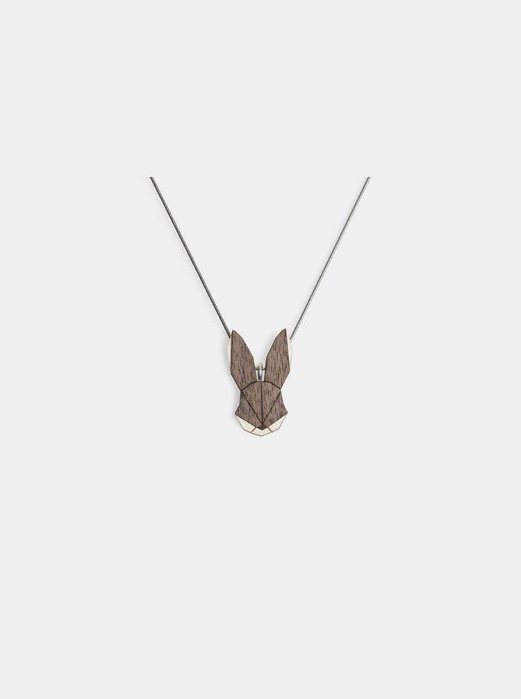 Dřevěný přívěsek BeWooden Hare Pendant na krk BeWooden